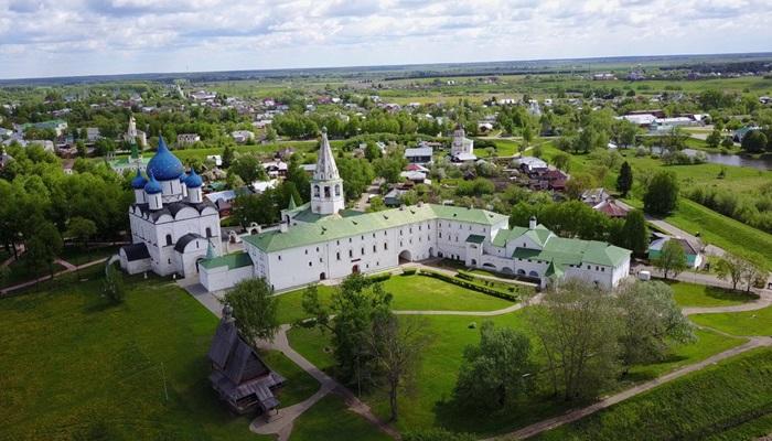 Суздальский кремль с высоты птичьего полета