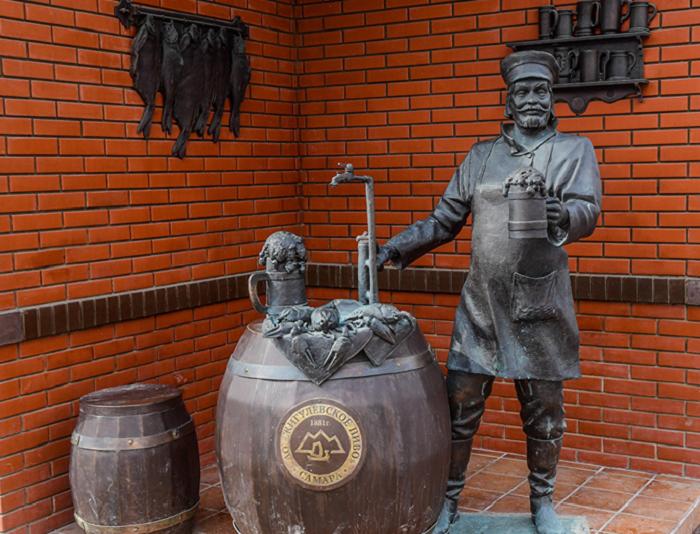 Жигулевский пивоваренный завод и памятник Пивовару