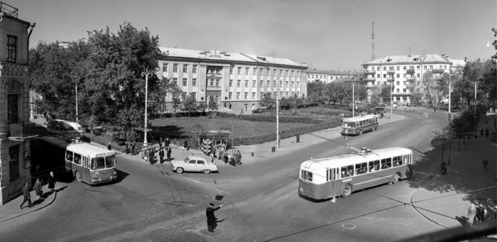 Площадь Труда в Гомеле в 1964 году