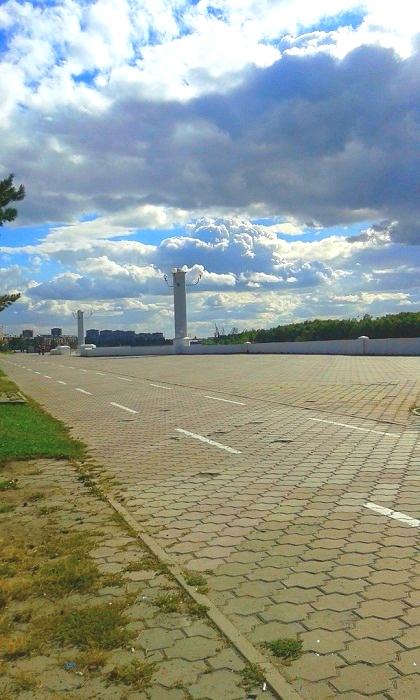 Иртышская набережная в Омске