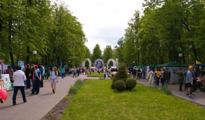 Парк на острове Даманском в Ярославле