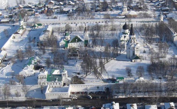 Александровский кремль с высоты птичьего полета