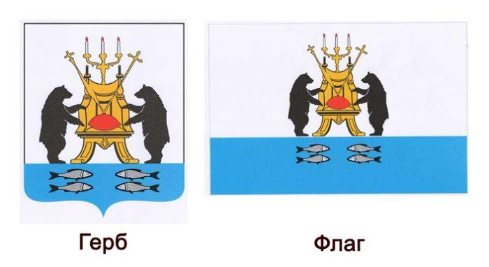 Флаг и герб Великого Новгорода