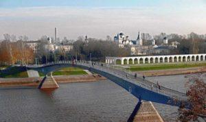 Кремлевский мост в Великом Новгороде