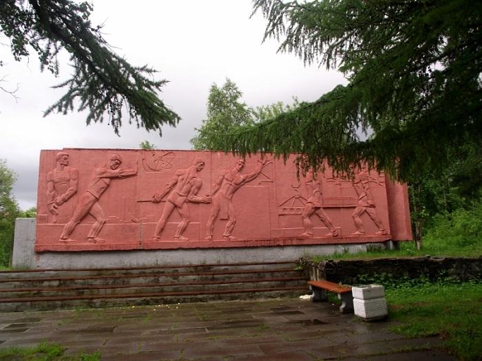 Памятник первым строителям города Апатиты