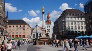 Площадь Marienplatz в Мюнхене