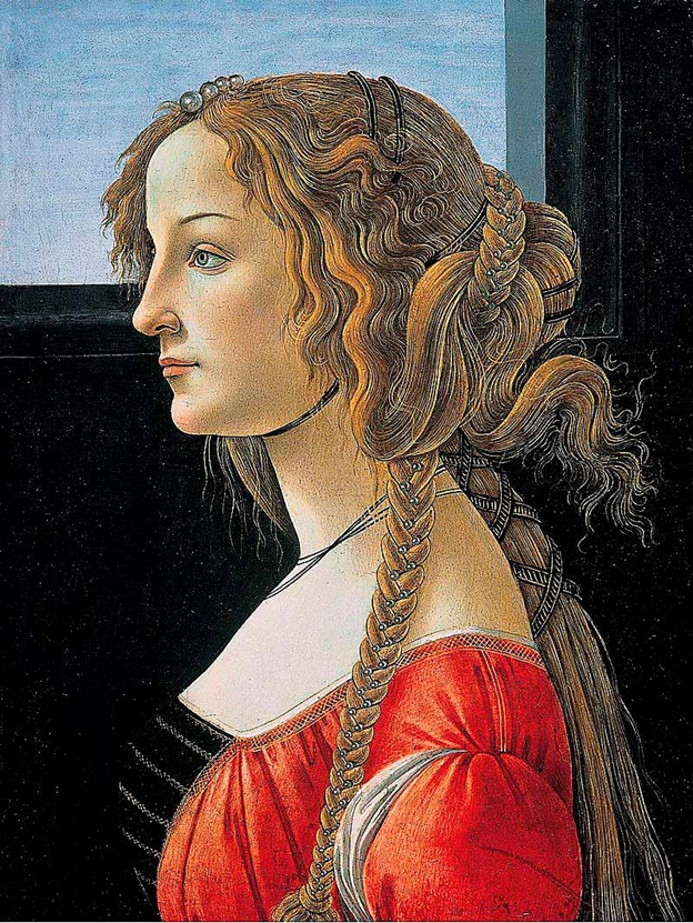 На фотографии – картина конца XV в. Боттичелли «Портрет Симонетты Веспуччи».