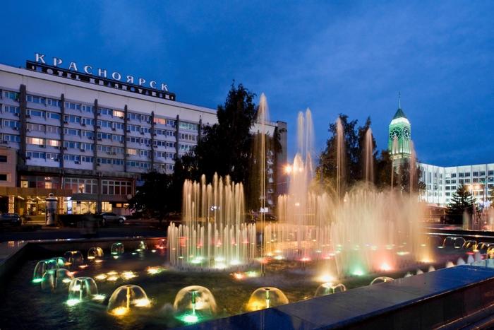 Театральная площадь в Красноярске