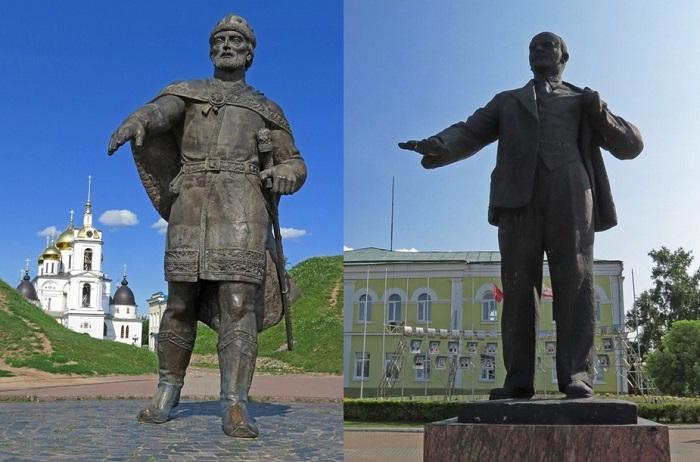 Памятники Юрию Долгорукому и Владимиру Ильичу Ленину