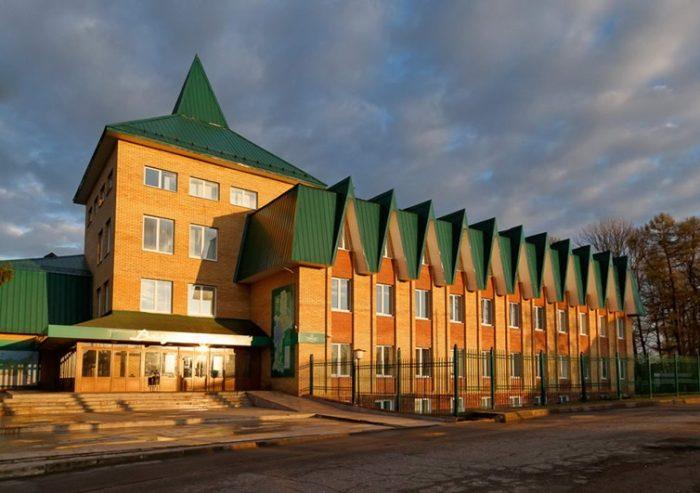 Здание визит-центра Валдайского заповедника