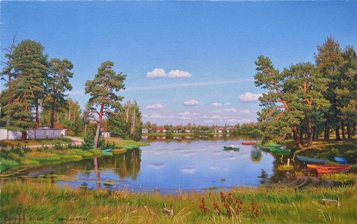 Картина Залив на Верхнем озере