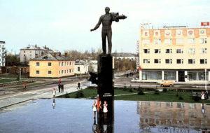 Центр города Гагарина в середине ХХ века