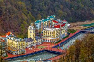 Курорты Роза Хутор и Горки Город на Красной Поляне