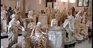 Коллекция мраморных скульптур