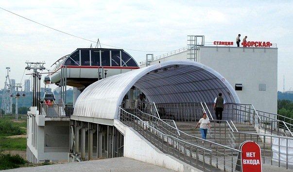 «Борская» станция канатки через Волгу (2)