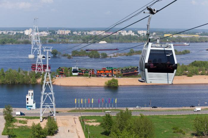 «Борская» станция канатки через Волгу