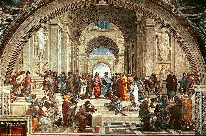 Фреска Афинская школа