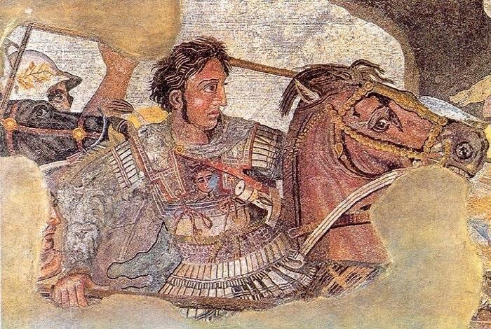 Мозаика с Александром Македонским