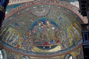 Мозаика со сценой коронации Девы Марии
