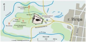 Новоиерусалимский монастырь на карте