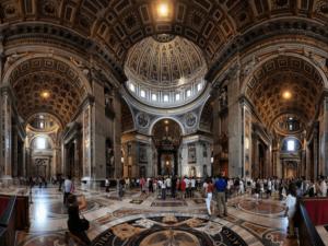 Внутренний интерьер собора