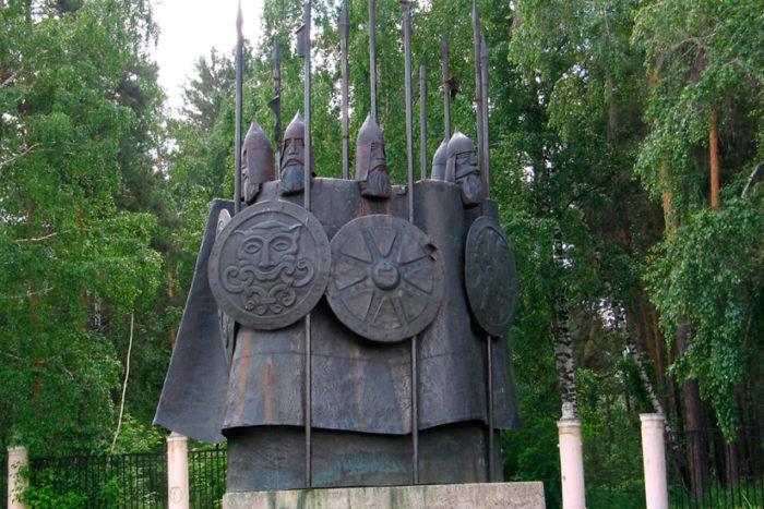 Архитектурная композиция «Богатыри России»