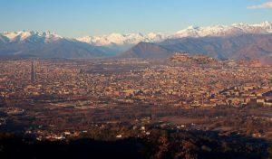Вид на Турин с базилики