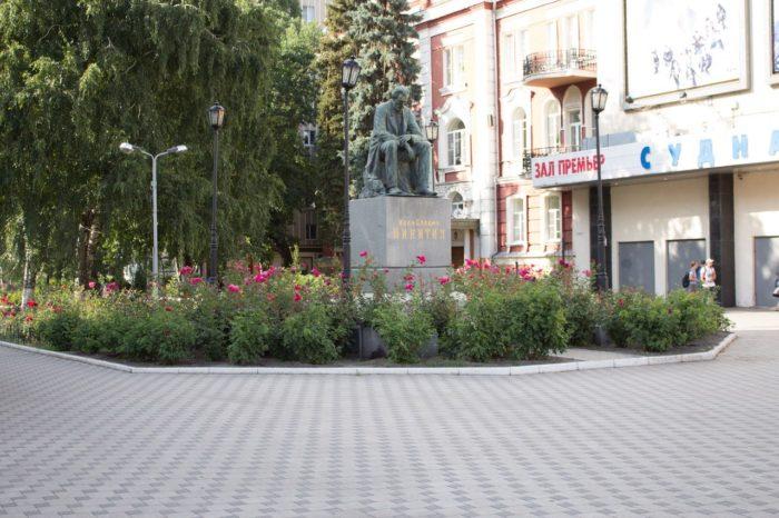 Пешеходная ул. Карла Маркса и Никитинская площадь