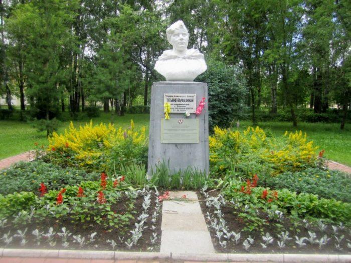 Памятник снайперу Татьяне Барамзиной