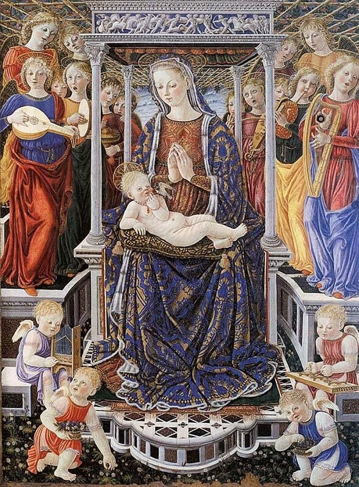 Картина с Девой Марией и Младенцем