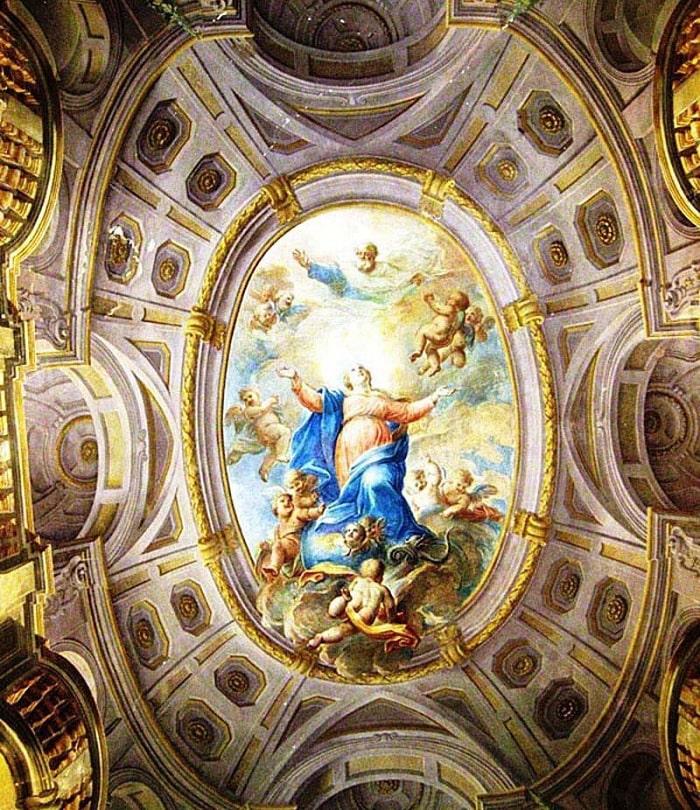 Потолочная фреска «Вознесение Девы Марии»