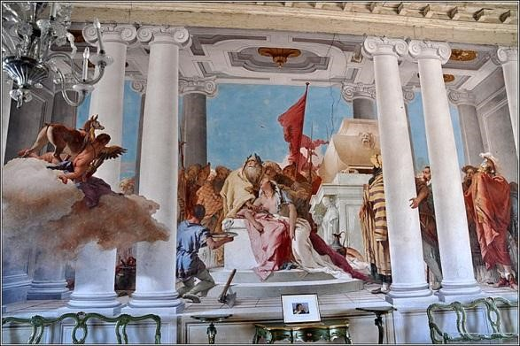 Фреска «Жертвоприношение Ифигении»