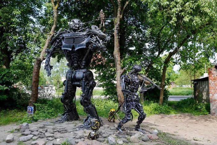 Скульптуры «Трансформеры»