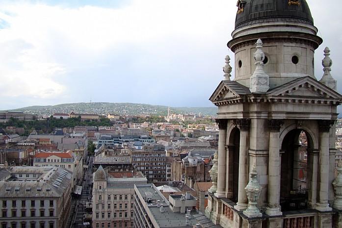 Вид со смотровой площадки Базилики Святого Иштвана