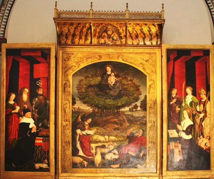 Центральная часть триптиха «Неопалимая купина»