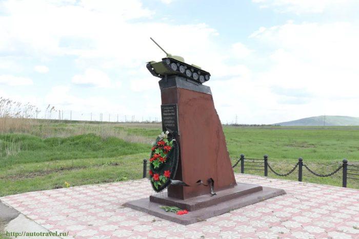 Памятник советским танкистам на реке Джемуха