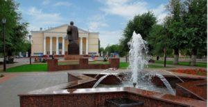 Фонтан «Звезда Победы» на площади Ленина
