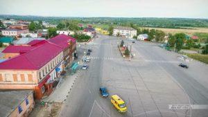 Красная площадь и Городской сад