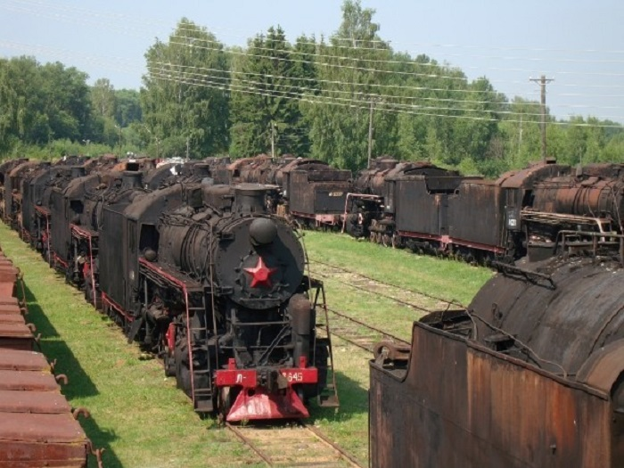 База запаса паровозов