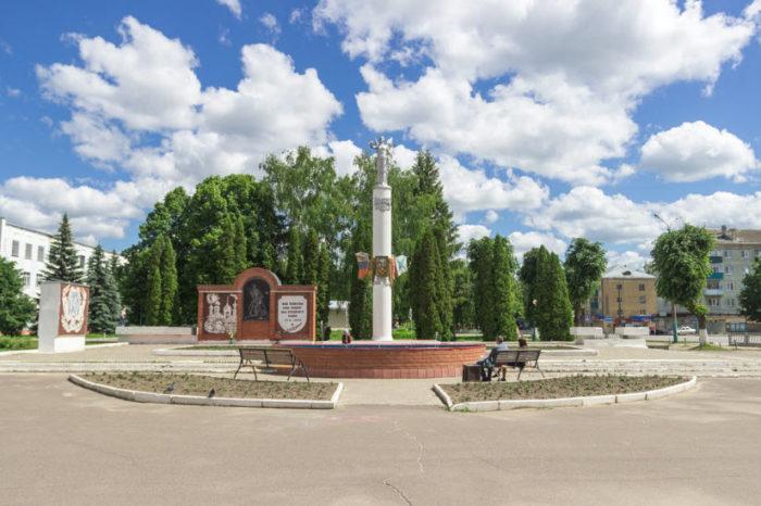 Памятная стела «850 лет Мценску»