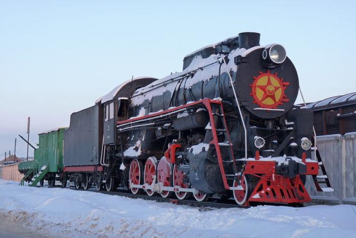 Паровоз-памятник Л-1822