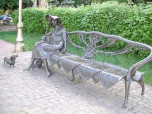 Скульптурная композиция «Незнакомка»