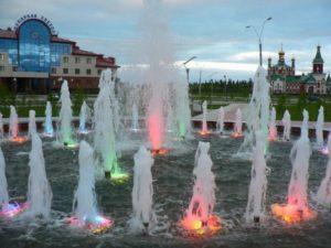 Фонтан к 25-летию города Усинска