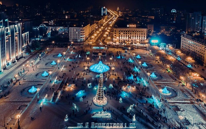 Площадь Ленина в Хабаровске